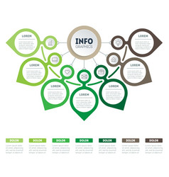 infographics eco business presentation concept vector image