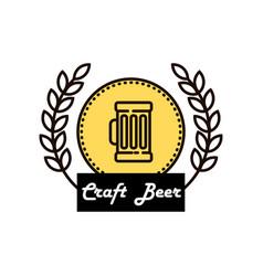 label delicious foam beer drink premium craft vector image