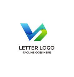 Letter v design concept template vector