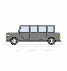 Limousine car isolated on white background vector