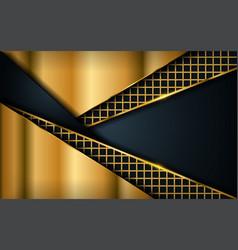 luxury dark navy background with golden lines vector image