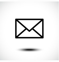 mail icon envelope sign vector image