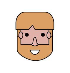 man face cartoon vector image
