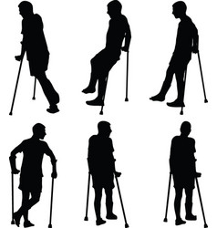 Man with broken leg vector