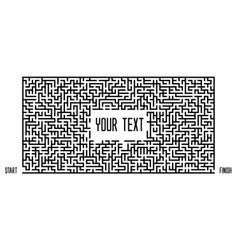 Maze on white background text box template vector