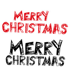 merry christmas hand draw icon vector image