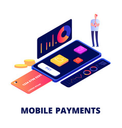 mobile payments online shopping and banking vector image