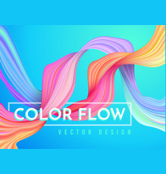 Modern color flow poster wave liquid shape on vector