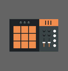 music mixer icon sound studio equalizer system vector image