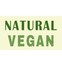 Natural vegan design vector