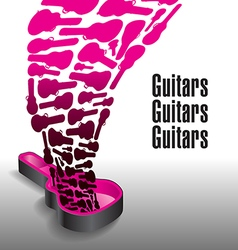 Never enough guitars vector