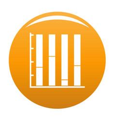 new chart icon orange vector image