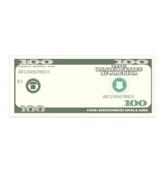 One Hundred Dollars Isolated on White Background vector image