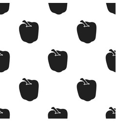 Pepper icon black singe vegetables icon from the vector