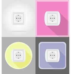 power and energy flat icons 13 vector image