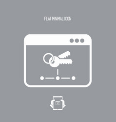 Private network - flat minimal icon vector