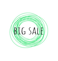 promotion grunge badge with big sale sign isolated vector image
