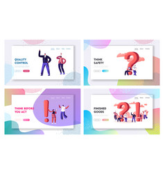 question and exclamation marks website landing vector image