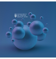 Random spheres background vector
