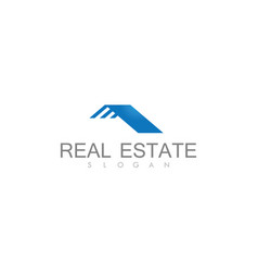 Roof real estate busies logo vector