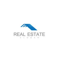 Roof real estate busines logo vector