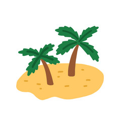 sand island with palm trees tropical deserted vector image