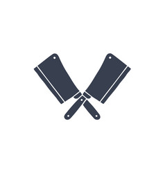 set butcher knives icons vector image