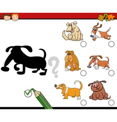 Shadows preschool activity task vector