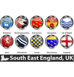 South east england uk vector