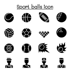 Sport balls icon set graphic design vector