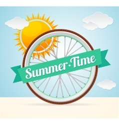 Summer bike card vector