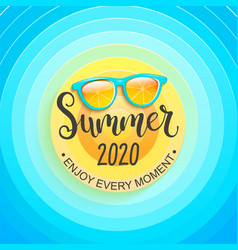 Summer greeting banner for summertime 2020 vector