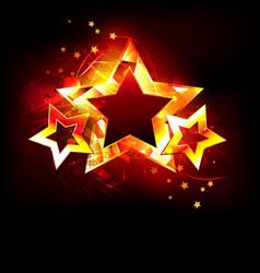 three fire stars vector image