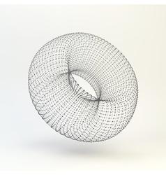 Torus Molecular lattice Connection structure 3d vector