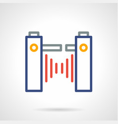 turnstile color simple line icon vector image