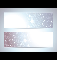 Two Abstract banners backgrounds vector image