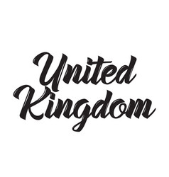 United kingdom text design calligraphy vector