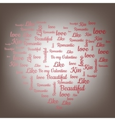 Valentines Day word cloud concept vector