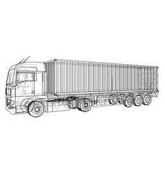 vehicle big cargo truck eps10 format vector image