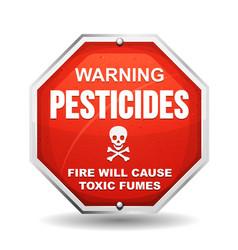 Warning pesticide danger vector
