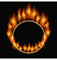 Burning ring vector