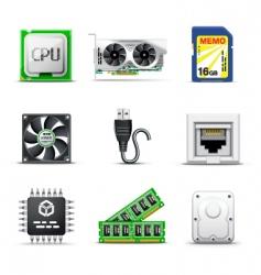 computer parts 2| bella series vector image vector image