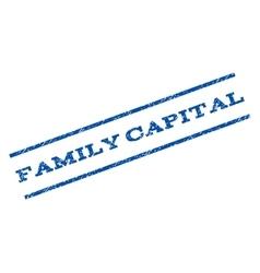 Family capital watermark stamp vector