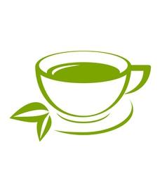 Green tea icon vector image vector image