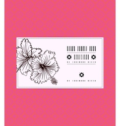vintage card with hibiscus flower vector image vector image