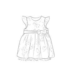 Baby Dress Sketch vector image vector image