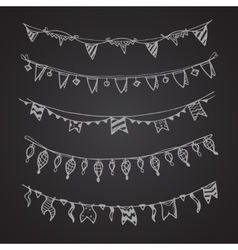 Celebration holiday garland lamps christmas and vector image vector image