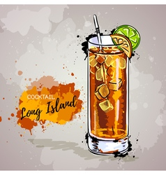 Hand drawn cocktail long island vector image vector image