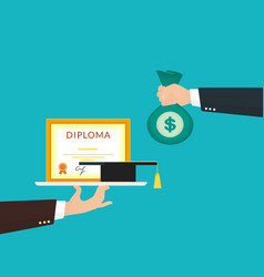 Bribery vector image