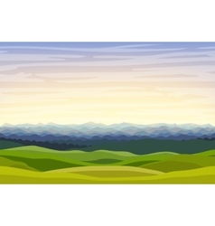 Cartoon horizontal landscape background vector image vector image
